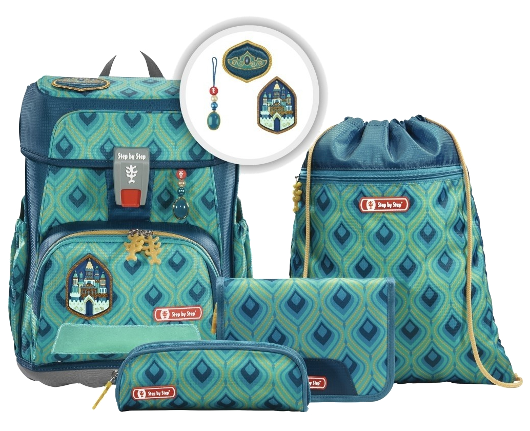 Step by Step 'Magic Castle' Cloud Schulrucksack-Set 5tlg.