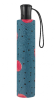 "Happy Rain ""Essentials"" Faltschirm Up and Down Automatic aqua dots blue"