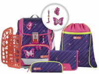 Step by Step 'Shiny Butterfly' 2in1 Plus Schulrucksackset 6tlg 19l 1200g