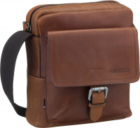 "Strellson ""Turnham 2"" Shoulderbag echt Leder brown"