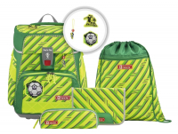 "Step by Step ""Funky Soccer"" Space Neon Schulrucksack-Set 5tlg."