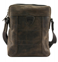 Strellson 'Hunter' ShoulderBag SVZ echt Leder dark brown