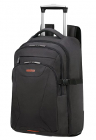 American Tourister 'At Work' Trolleyrucksack mit Laptopfach 15,6 Zoll 37l 2,0kg schwarz/orange