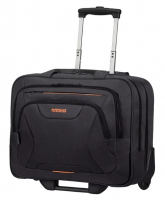 "American Tourister ""At Work"" Business Rolling Tote Pilotentrolley 17,3 Zoll 22l 2,5kg schwarz/orange"