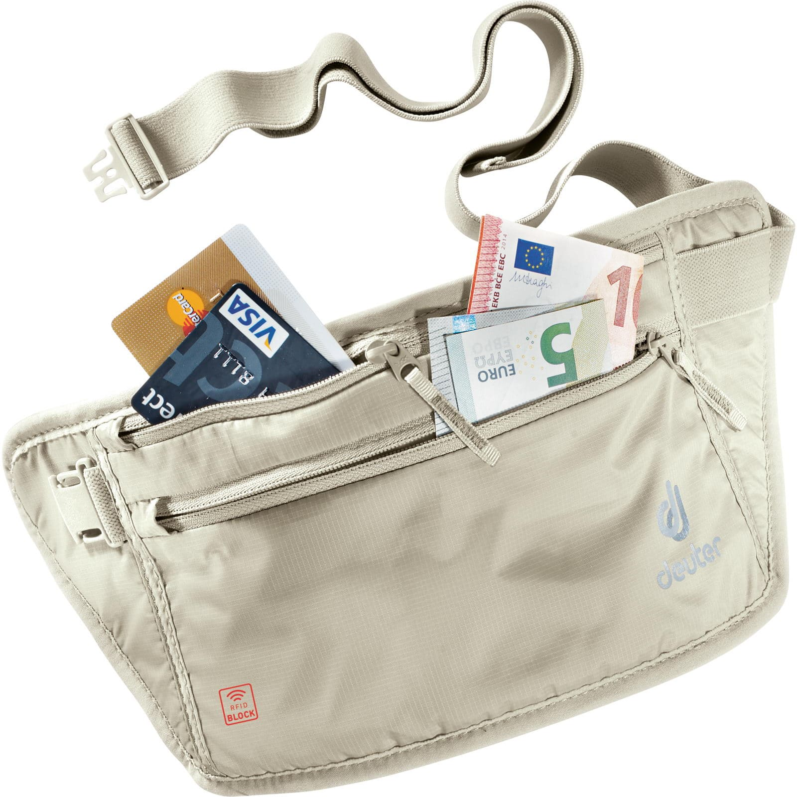 Deuter 'Security Money Belt II RFID Block' Gürteltasche sand