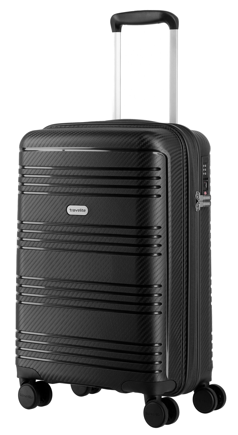 Travelite 'Zenit' 4-Rad Bordtrolley 55cm 2,5kg 36l schwarz