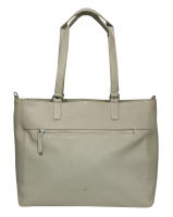 Prato LM Asif Shopper geprägtes Rindleder light grey
