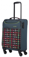 Travelite 'Argon' 4-Rad Trolley 55cm Bordtrolley 2400g 30l Karo