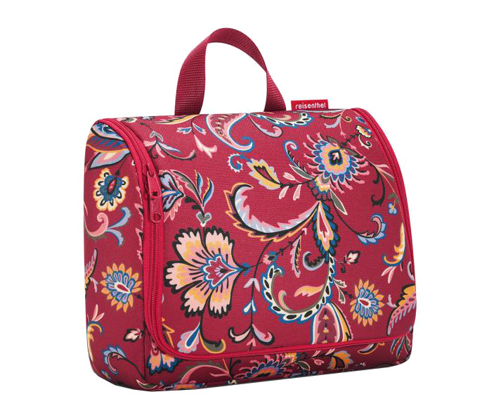 Reisenthel 'Toiletbag XL' paisley ruby