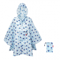 Reisenthel 'Mini Maxi Poncho' Regenumhang leaves blue