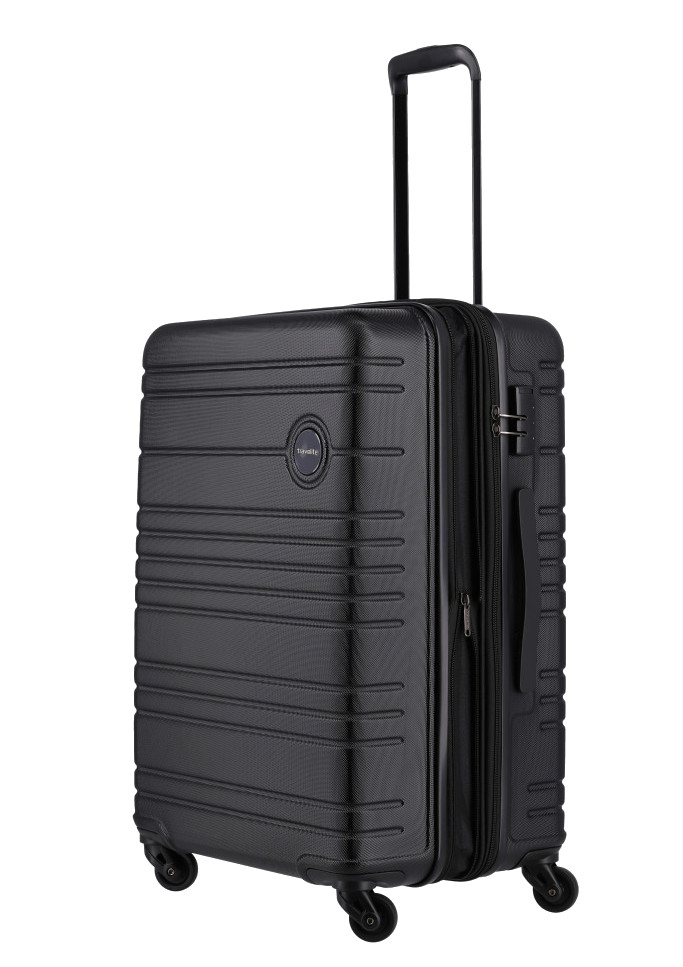 Travelite 'Roadtrip' 4-Rad ABS Trolley 67cm 3,9kg 68/73L schwarz