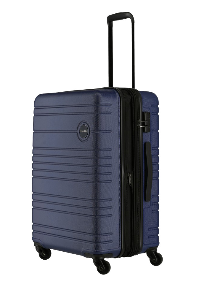 Travelite 'Roadtrip' 4-Rad ABS Trolley 67cm 3,9kg 68/73L marine