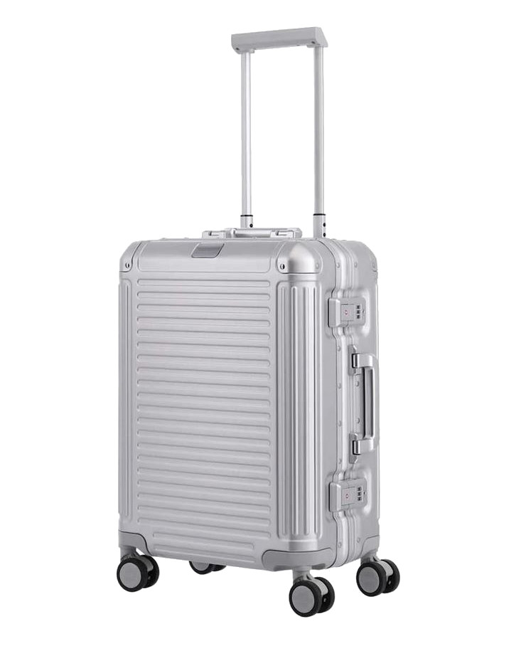 Travelite 'Next' 4-Rad-Bordtrolley S 55cm 3,9kg 39l  Aluminium silber