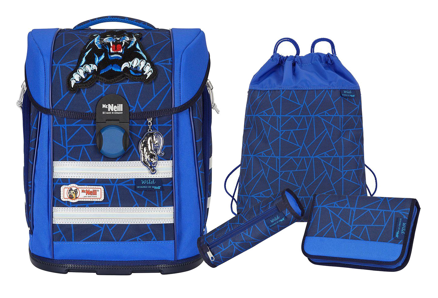 McNeill 'Wild' Schulrucksackset Ergo Light Primero Mc Light 4tlg.