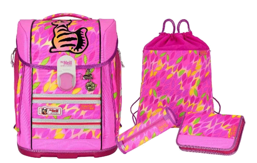 McNeill 'Crazy Cat' Schulrucksackset Ergo Light Primero Mc Light 4tlg.