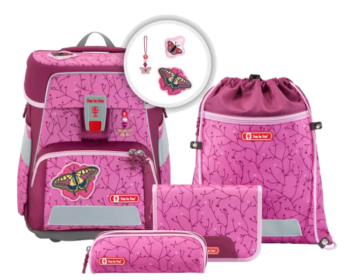 Step by Step 'Natural Butterfly' Space Schulrucksack-Set 5tlg.