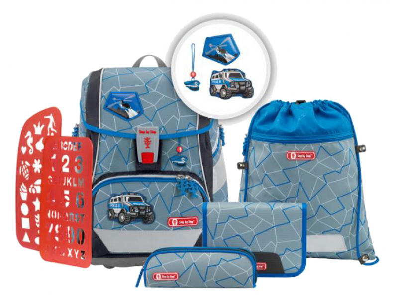 Step by Step 'Police Truck' 2in1 Plus Schulrucksackset 6tlg 19l 1200g