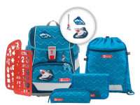 Step by Step 'Angry Shark' 2in1 Plus Schulranzen-Set 6tlg. 1200g 19l