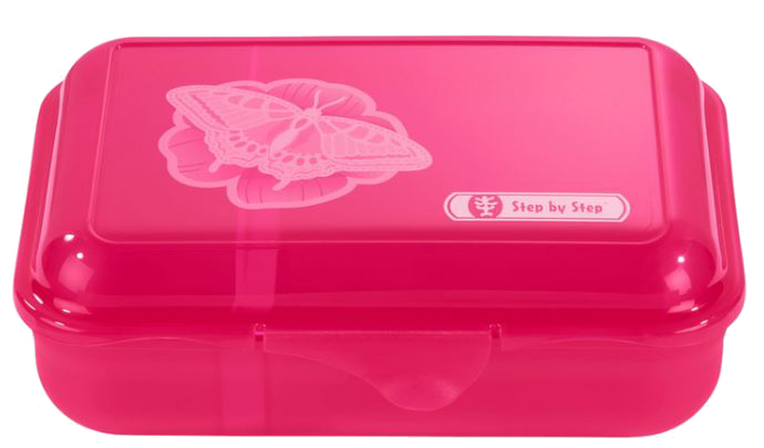 Step by Step 'Natural Butterfly' Lunchbox mit herausnehmbarer Trennwand 0,9l