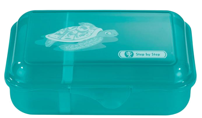 Step by Step 'Happy Turtiet' Lunchbox mit herausnehmbarer Trennwand 0,9l