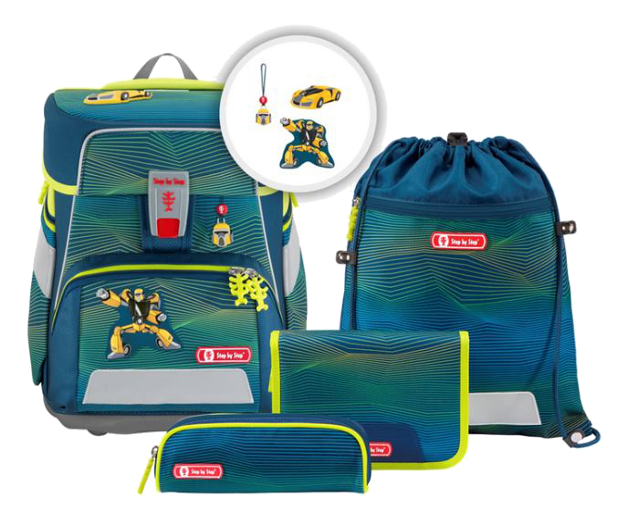 Step by Step 'Power Robot' Space Schulrucksack-Set 5tlg. 1250g 20l