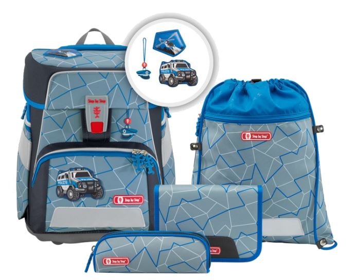 Step by Step 'Police Truck' Space Schulrucksack-Set 5tlg. 1250g 20l