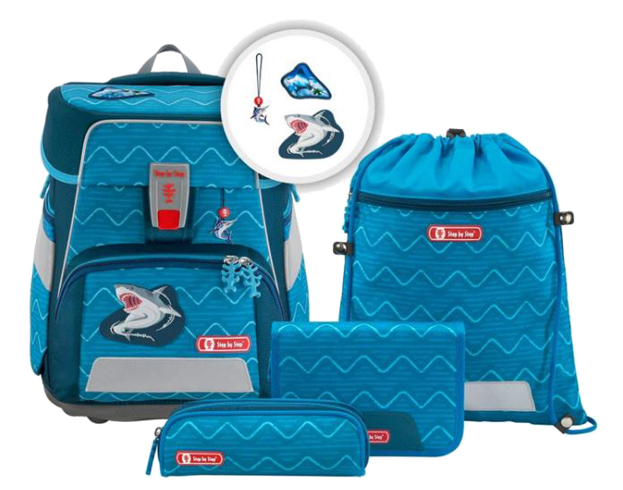 Step by Step 'Angry Shark' Space Schulrucksack-Set 5tlg. 1250g 20l