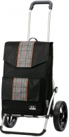 "Andersen ""Florenz"" Royal-Shopper 45l 50kg Tragkraft mit Thermofach innen MADE IN GERMANY schwarz/karo"